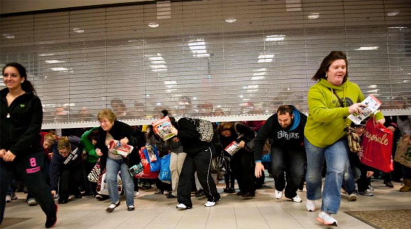 Corrida às lojas no Black Friday nos Estados Unidos