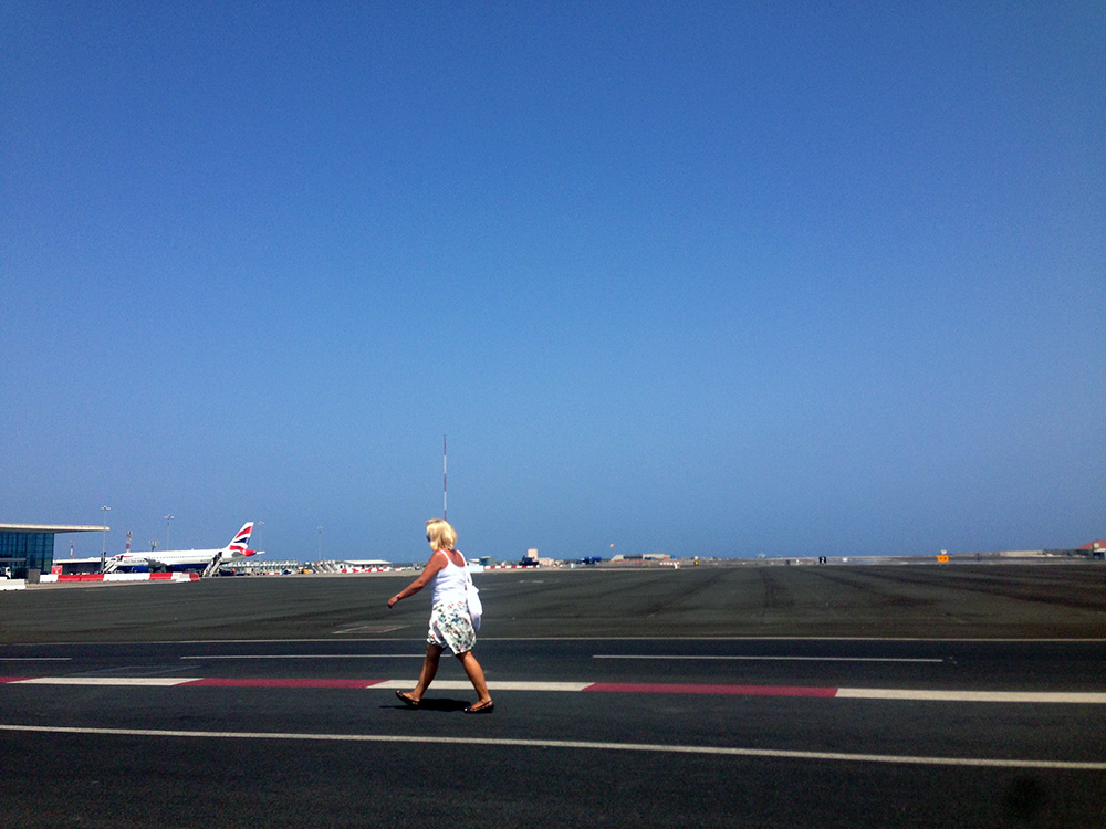 Pista do Aeroporto Internacional de Gibraltar